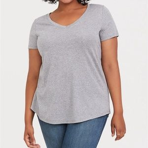 Light Grey Classic Fit Girlfriend Tee